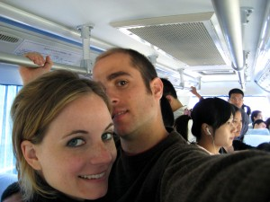 We finally made it on to the 919 bus to Badaling!