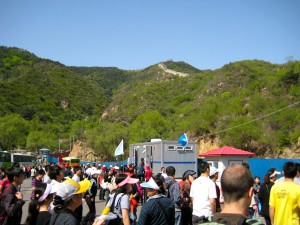 Chaotic arrival to the Badaling section of the Great Wall