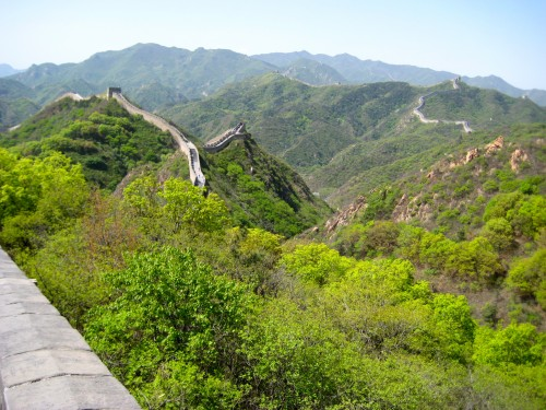 The Great Wall of China runs on as far as the eye can see