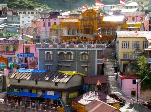 Badrinath temple nestled in the village