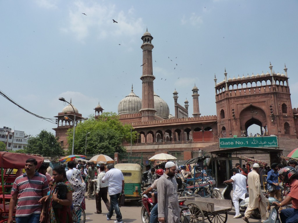 The calm Jama Masjid Mosque is one of Old Delhi's backdrops
