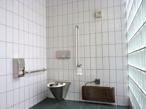 Spotless public toilet in Luzern