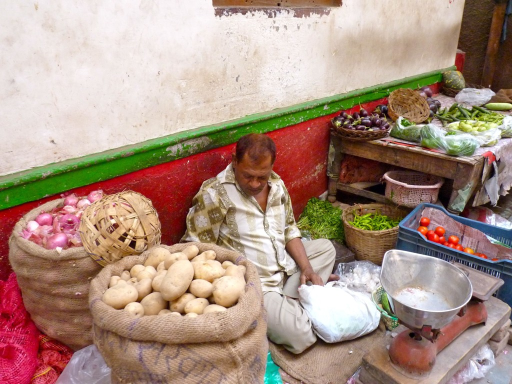 Vegetable vendor, Old Delhi Bazaar