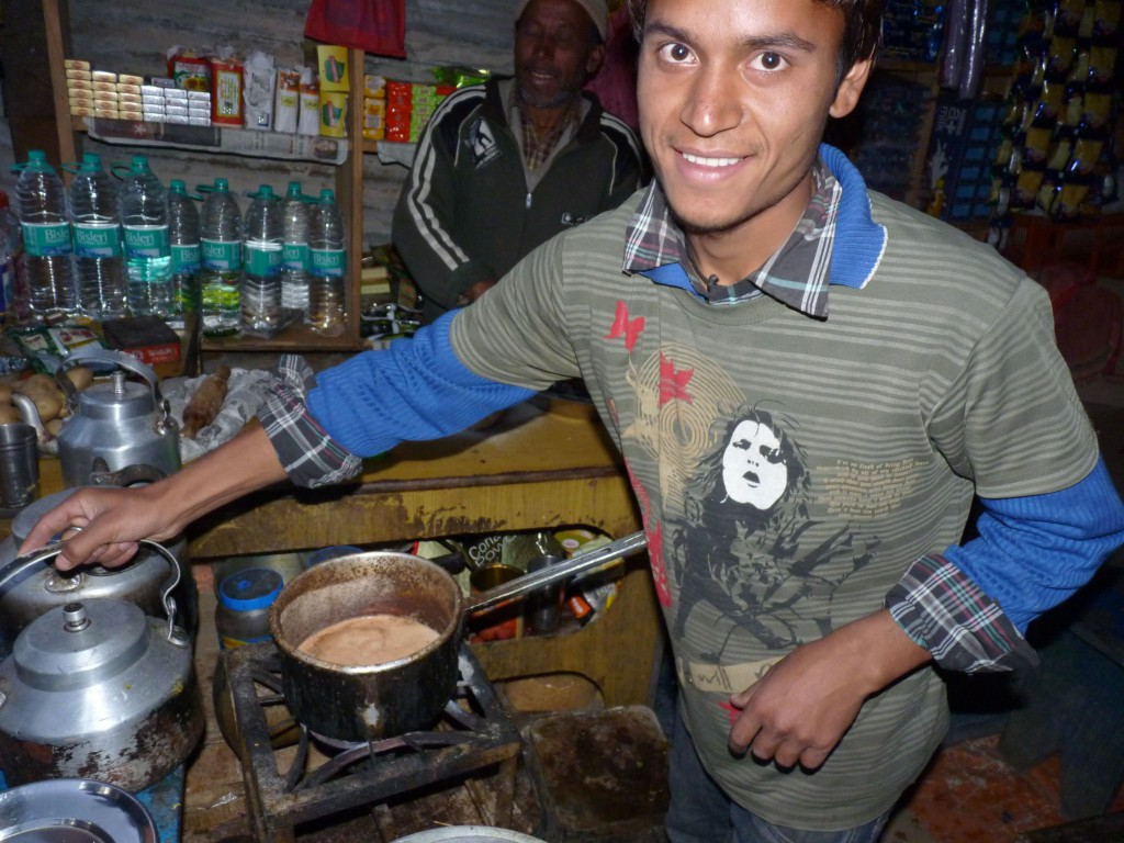 Indian chai stand