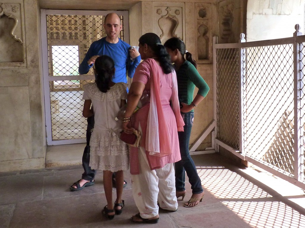 New friends at Agra Fort