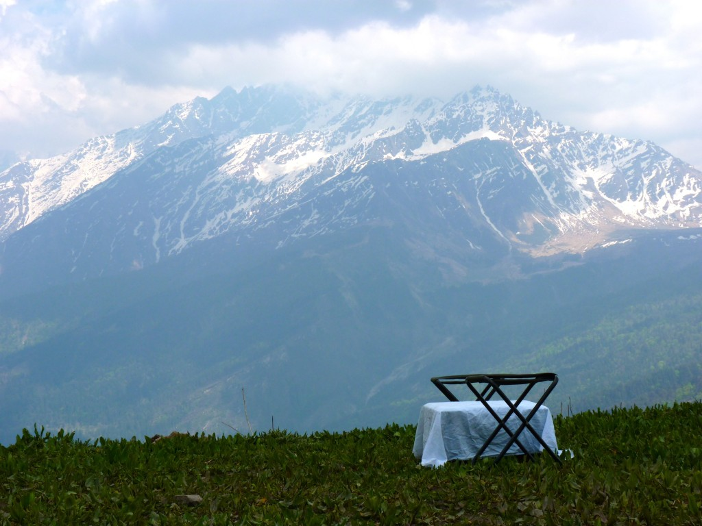 Table for Two, Kuari Pass Trek