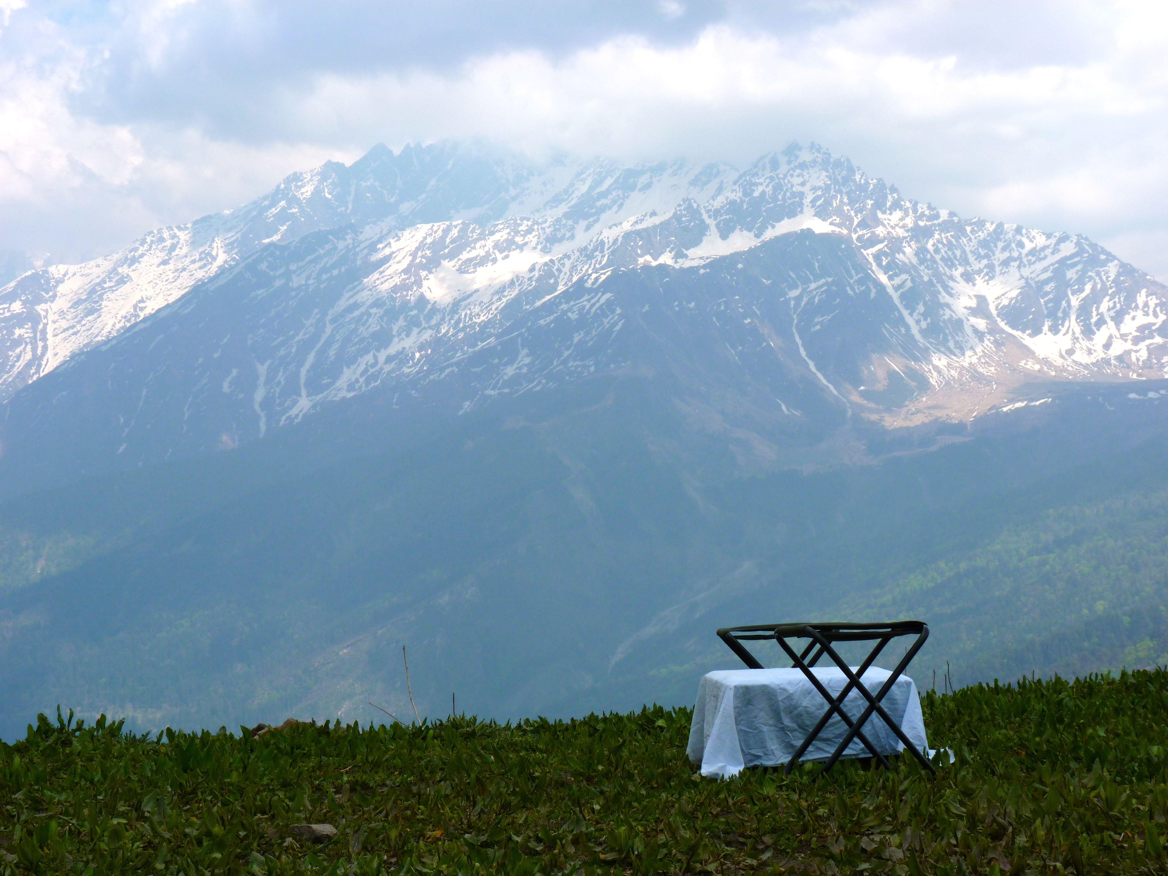 Pass Trek Table For Two Kuari Pass Trek
