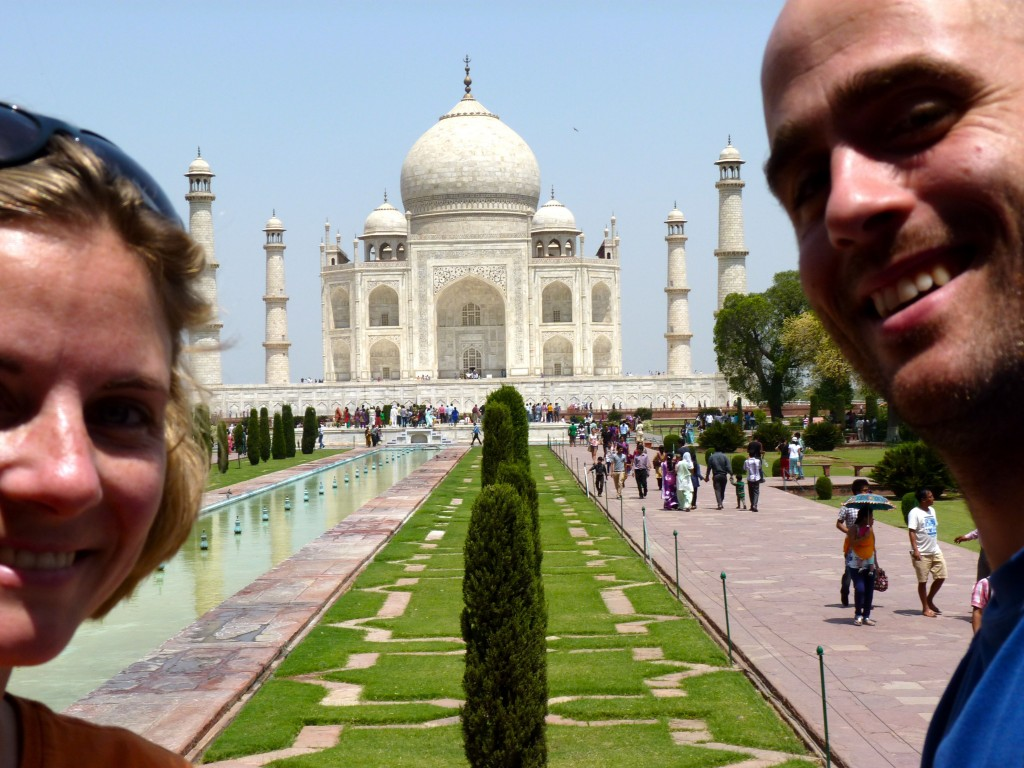C and A at Taj Mahal