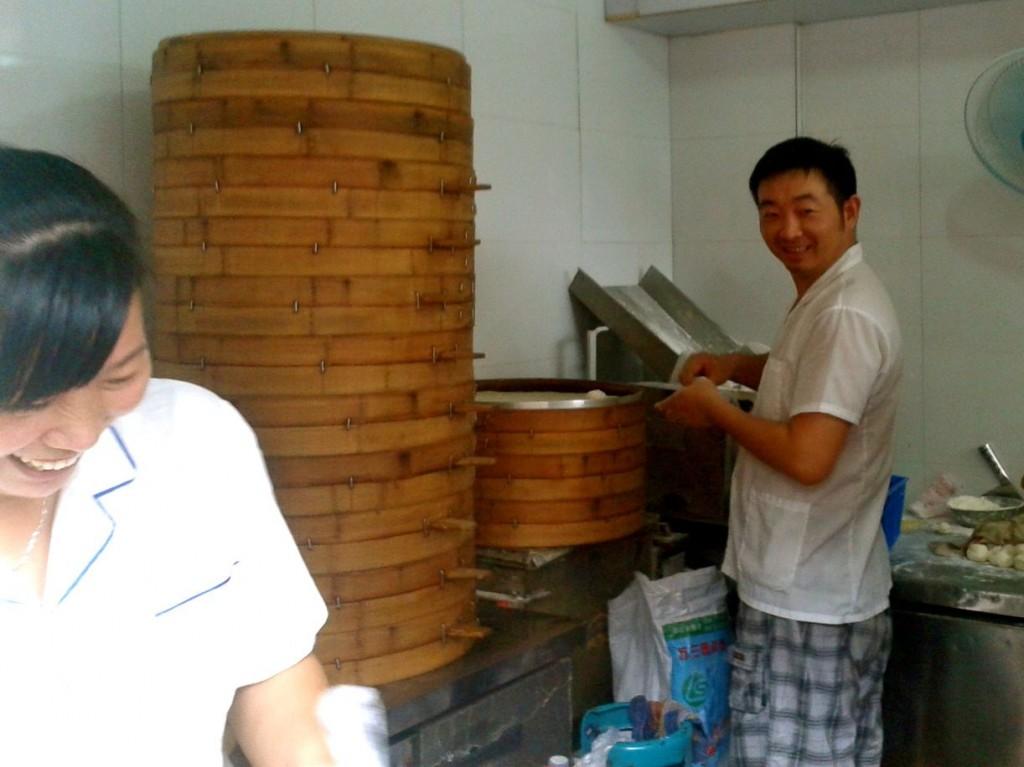 Our baozi stand in Hangzhou